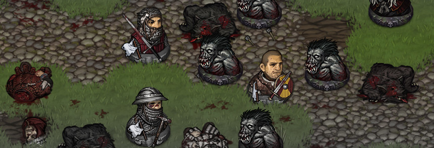 Battle Brothers beeing in different states of morale after a heavy fight in turn based strategy game Battle Brothers.