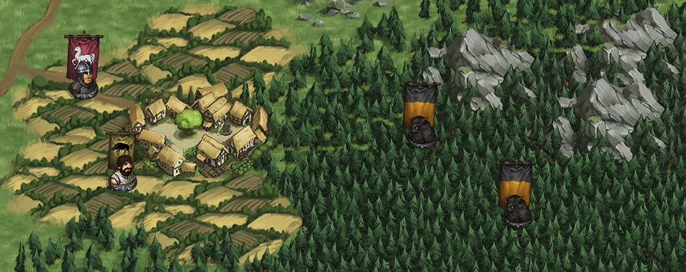 Werewolves encrouching on a vilage.