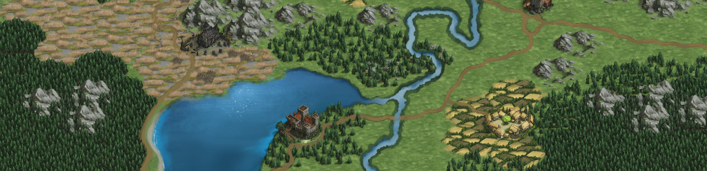 Battle Brothers turn based strategy game worldmap mockup