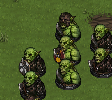 young orc group battle brothers turn based strategy