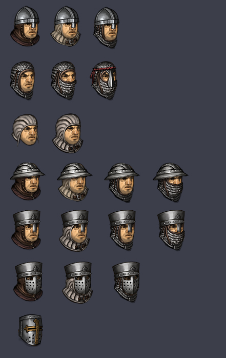 medieval helmet classification battle brothers