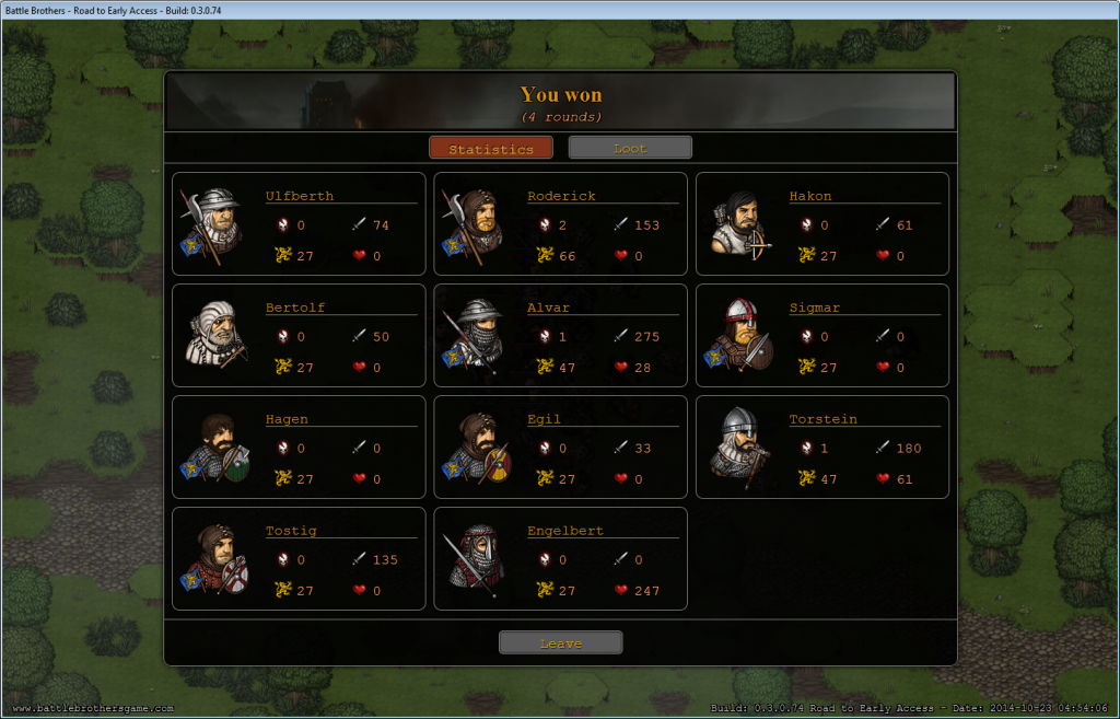 tactical combat result screen battle brothers