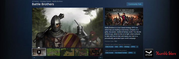 Early Access Announcemen HEader Battle Brothers
