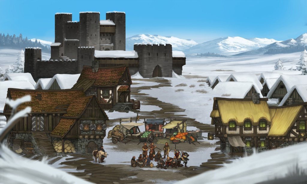 Fortress snow settlement screen