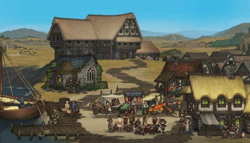 settlement with docks