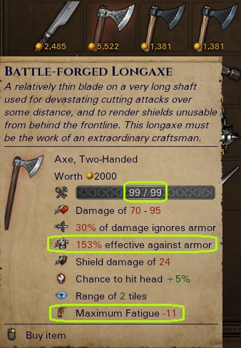 Rare Longaxe with Better Armour-Shattering Power than Billhooks