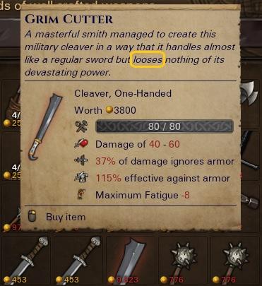 Grim Cutter - a rare, named cleaver